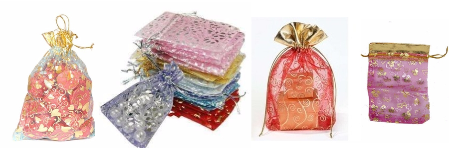 Printed Organza Gift Bags