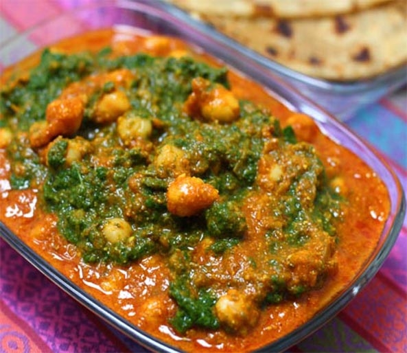Chickpea Tikka Masala with Spinach