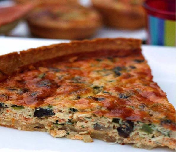 Crab and Parmesan Cheese Tart