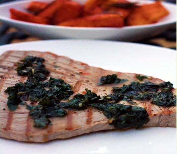 Fresh Tuna Steaks in a Minty Sauce
