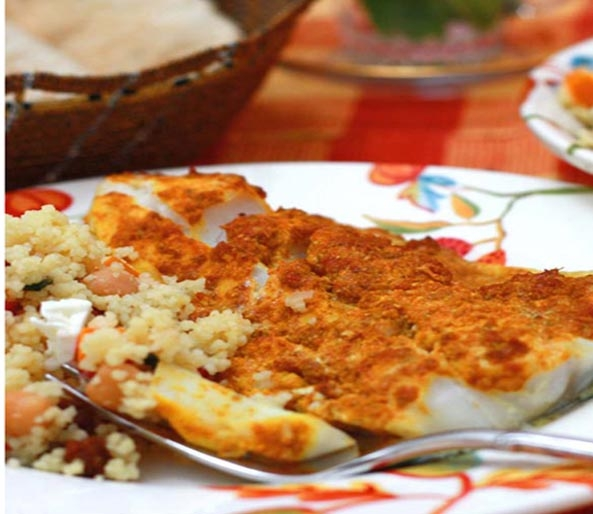 Quick Middle Eastern Baked Fish