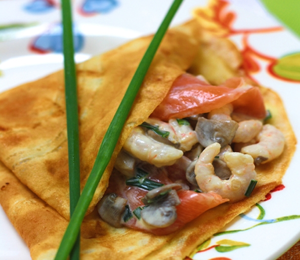 Seafood Pancakes