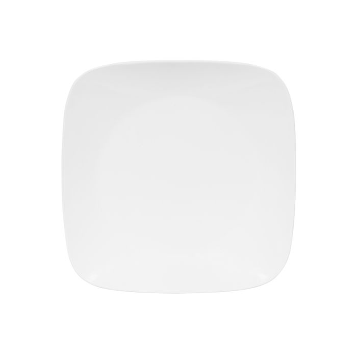 Corelle Pure White Square Dinner Plate Uk Popat Stores